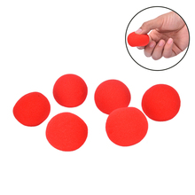 10Pcs/lot 4.5cm Finger Magic Props Soft Red Sponge Ball Close-UP Street Classical Illusion Stage Comedy Tricks(China)