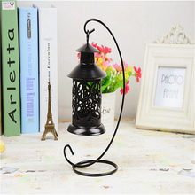 Europe Style Glass Metal Candle Holder Stand Crystal Wedding Column Metal Lantern Candle Candeliere Candlestick DDX68
