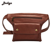 2017 Latest Fashion Men Women Waist Pack Fanny Packs PU Leather Belt Phone Bag Travel Waist Bags Anti-theft Male Waist Pouch(China)