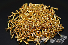 Thousand of Golden Guitar Pickguard Screws For Fender Strat/Tele Electric Guitar Bass Free Shipping Wholesales
