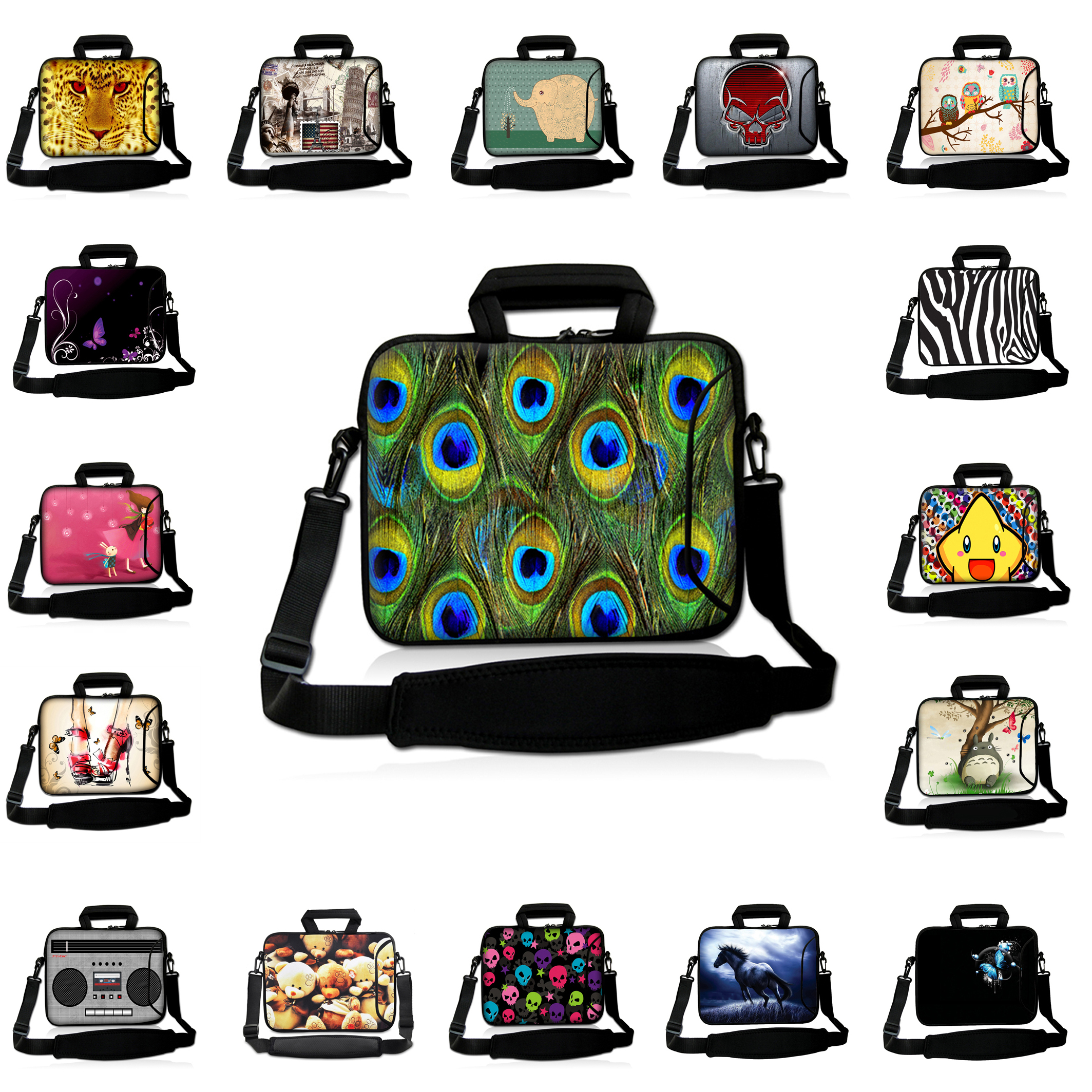 Shockproof Neoprene 10 12 13 14 15 17 inch Laptop Messenger Carry Bag Funda Portatil Bolsas Hot Notebook Bags Bolsas Protector<br><br>Aliexpress