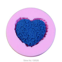 3D Silicone Mold DIY Cake Decorating Loving Heart Lace Shaped Fondant Sugar Art Tools Fondant Cake Tools Silicone Soap Mold