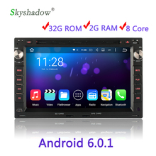Eight Core 2 DIN HD Media Video Android 6.0.1 Car DVD Player For VW POLO PASSAT B5 SHARAN JETTA LUPO 2G RAM 32G ROM Radio WIFI