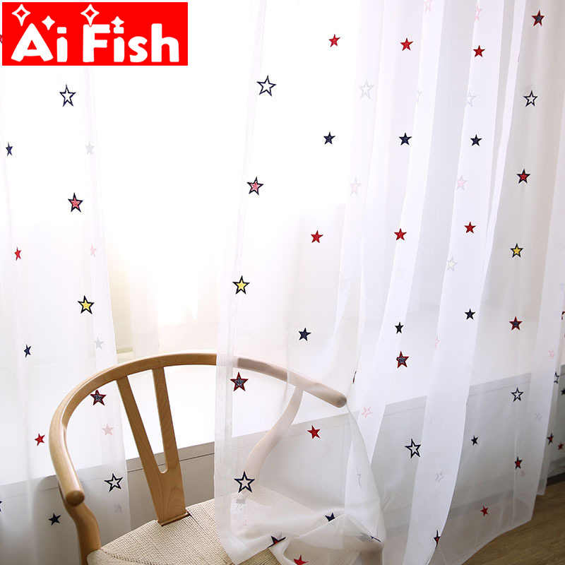 Gypsophila High-grade Embroidered Cartoon Children's Bedroom Sheer Drapes British Modern Minimalist Custom Curtains  wp310#30
