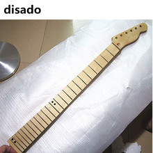 disado 24 Frets maple Electric Guitar Neck maple fretboard wood color glossy paint guitar parts accessories can be customized(China)