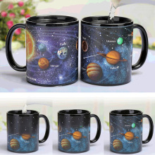 New The solar system Ceramic coffee mug Heat sensitive Color changing mugs magic tea cup best gift for friends
