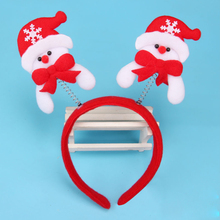 Women Girl Cute Christmas Headband Decoration Santa Claus Snowman Festival Hair Band Bell Feather Accessories Christmas Gift(China)