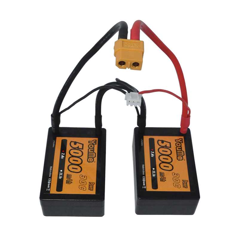 2s 7.4v 5000mah New Youme RC Car Lipo Bateria 3P 30C Max 60C Lipo Pack Hard case Battery ROAR B44 <br>