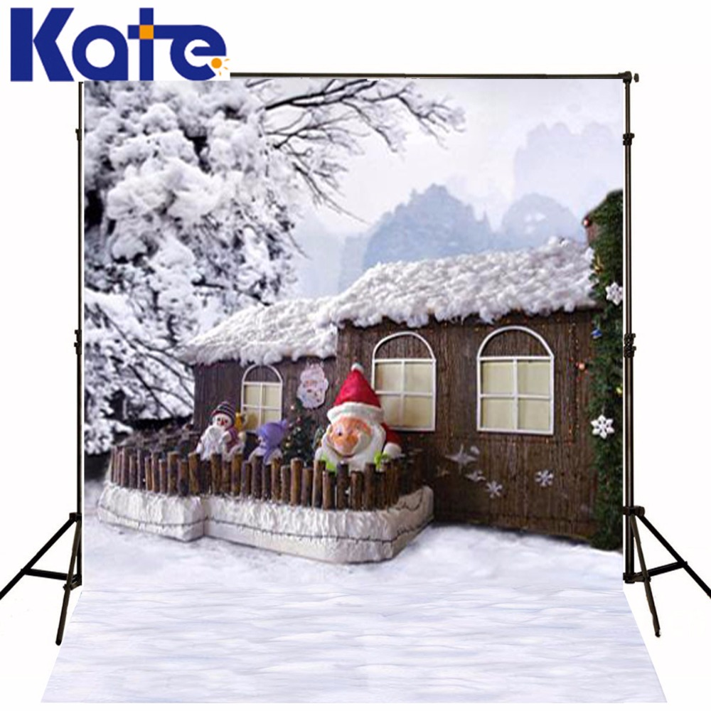 200Cm*150Cm Mini Baby Child Photographymountain Snow Tree House Background  One Hundred Days Baby Photos 1211Lk<br>