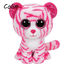 Elsadou Beanie Boos Original Big Eyes Plush Toy Kawaii Doll Child Birthday Pink Leopard Stuffed Animals  Baby 15cm WJ159