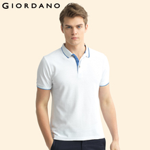 Giordano Men Polo Brand Clothing Short Sleeves Polo Shirt Casual Tops Camisa Polo Masculina Pique Polos Heather Color Tops(China)