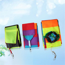 Outdoor Baby Toys Flat Kite Tail Ribbon Children Kids Kite Stunt Kite Surf without Control Bar and Line Baby Toy(China)