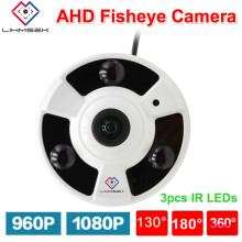 Lihmsek 2MP Panoramic AHD Camera Fisheye Lens 360 Degree View 1080P AHD Camera IR 10m Analog Surveillance Cameras Metal indoor(China)