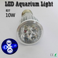 10W E27 E14 GU10 LED Aquarium Light, For Fish Tank Lighting Aquatic Plants And Corals Grow Lights 2 Blue & 3 White(China)