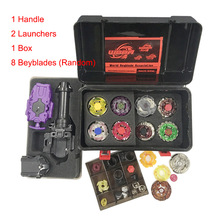 8 Beyblade + 2 Launcher + 1 Handle + 1 Box Spinning Top Set Toys for Boys Fusion Beyblade Burst Game Children Birthday Gift(China)
