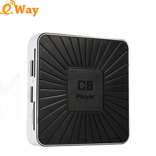 Free shipping 2017 newest C8 player smart tv box Android 7.1 RK3328 1GB DDR3 8GB NAND Flash Android tv box Media player DLAN