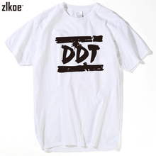 2017 DDT Tee Russian Band Logo Merchandise for Men Short Sleeve Crewneck Custom Boyfriend Basic Tees Shirt Big Size xxxl(China)