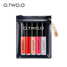 O.TWO.O 5pcs/lot Makeup Set Lip Oil+ Matte Lipgloss Kit Long Lasting Waterproof Soft Texture Lip Gloss Matte Liquid Lipstick(China)