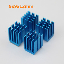 10PCS Radiator Aluminum Heat sink 9 x 9 x 12MM Chipset RAM Heatsink Cooler