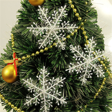 30pcs Snowflake Christmas Ornaments Christmas Tree Decoration natal Party Home Decor New Year Gift(China)