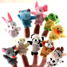 Velvet Animals Style Finger Puppets Set of 10 Puppets,Stuffed Dolls,Plush Marionette Hand Puppets For Kids Talking Props