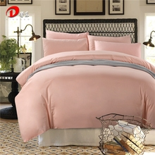 Pink Satin Bedding Set Luxury Egyptian Cotton Bed Set King Queen Size High Quality Bed Linen 4pcs Noble Duvet Cover Set Z14(China)