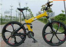 Kalosse folding mountain bicycle    Folding 26*2.125 Tires  Hydraulic brakes  Mountain  bicycle, 21/24/27/30speed , tyre dirt bi