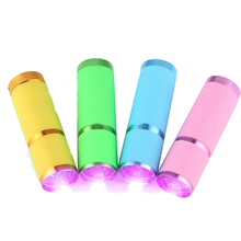 Good 3AAA Battery Powerd Multi-fuction Portable Mini 9 LED Nail Dryer Currency Detector UV Gel Lamp Flashlight Torch