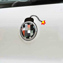 Aliauto Bomb Car Sticker Funny Decal Logo Decoration for Volkswagen VW Golf 4 5 6 7 GTI Tiguan Jetta Sagitar Passat b6 b8 Polo(China)
