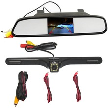 Universal Car Rear View Camera Car Parking Backup Camera with HD  Mirror Monitor Parking System for BMW E46 2 Din Car DVD
