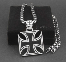 Men's Huge Big Chopper Cross Pendant Necklace Chain 316L Stainless Steel Jewelry(China)
