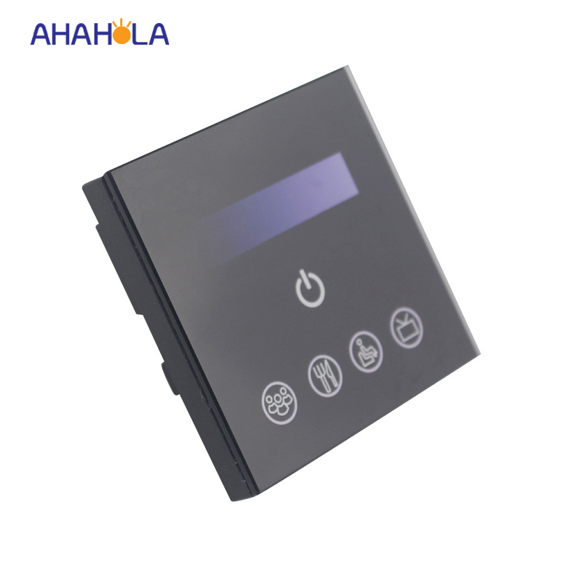 ac 110v/220v wifi led controller dimmer output 0-10v dimming signal ios android system touch panel control for led panel lights<br>