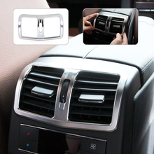 Chrome Interior Armrest Box Rear Air Conditioning Vent Cover Trim Air Outlet decorative for Mercedes Benz W212 E Class 2013-2015