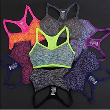 Women Fitness Yoga Sports Bra For Running Gym Padded Wire free Shake proof Underwear Push Up Seamless Fitness Top Bras Hot Sale(China)