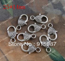 Sweet Bell 50pcs/lot 25*14mm buckle bags lobster clasp design restoring ancient ways lobster clasp  accessories wholesale