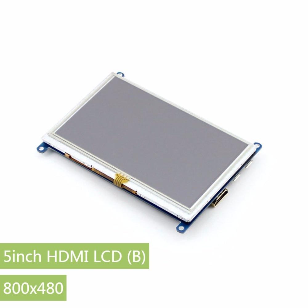 Parts 3pcs/Lot Raspberry Pi 5inch HDMI LCD (B) Display 800x480 Touch Screen Support Raspberry Pi 3 B/2B A/A+/B/B+ /Beaglebone Bl<br>