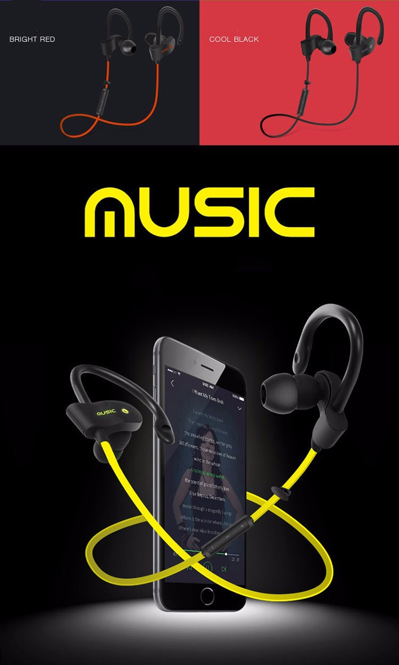 S4 Bluetooth Headset Wireless Earphone Headphone Sport Running Earphones Earbuds Stereo Music with Microphone for iPhone 7 xiaom (11)