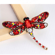 New Europe and the United States retro personality chest brooch corsage high-grade pin large dragonfly scarf deduction animal br