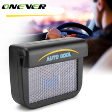 Onever Solar Powered Auto Car Window  Auto Air Vent Cool Ventilation Fan Air Vent Radiator with Rubber Strip Ventilation System
