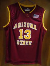 Aembotionen James Harden #13 Arizona State Red/Yellow/White Retro Throwback Stitched Basketball Jersey Sewn Camisa Usa Flag logo