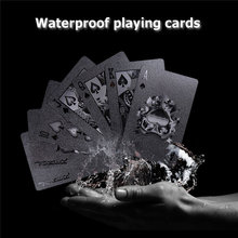 54pcs Black Diamond Plastic Playing Cards Collection Poker Cards Black Poker Card Sets Classic Magic Tricks Tool Board Games(China)
