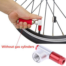 Bicycle Tool 2017 Outdoor Portable Bike Bicycle Tire Air CO2 Inflator Pump Valve Head Robust design Apr27(China)