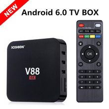2017 New V88 Android 6.0 TV Box RK3229 Quad Core 1GB/8Gb Kodi 16.0 Loaded Add-ons WiFi H. 265 4K 1080i/P Smart Media Player