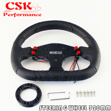 320mm Pu Leather Steering Wheel + Hub Adapter For Nar di / Sparco /Momo /Omp JDM(China)