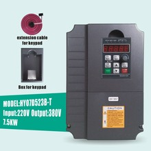 HUANYANG VFD Inverters AC drive 7.5KW motor Input Voltage 220V Output Voltage 380V VARIABLE FREQUENCY DRIVE FREE SHIPPING(China)