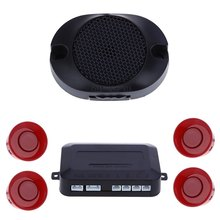 4 Sensors Car Parking Auto Reverse Rear Assistance Backup Park Radar Buzzer Alarm Monitor System Double CPU with Advanced Chip