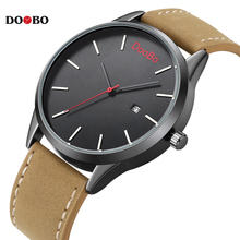 Casual Mens Watches Top Brand Luxury Men's Quartz Watch Sport Military Watches Men Leather Relogio Masculino Montre Homme DOOBO