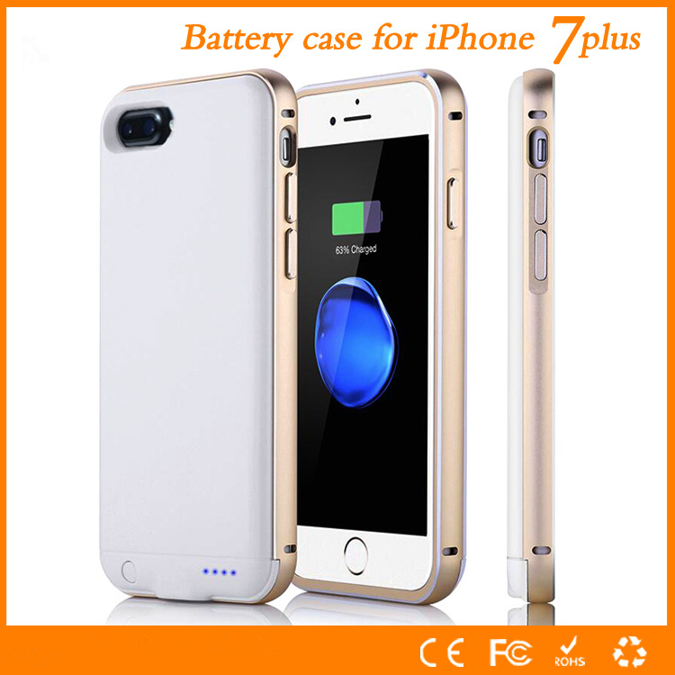 Metal Shell For Apple Iphone 7 Plus Battery Case High Quality 4000mAh Power Charger Cover Smart For Iphone7 plus 5.5 Case(China)
