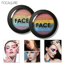 Focallure New Arrival Baked Mars Prism Rainbow Highlighter Makeup Palette Cosmetic Blusher Shimmer Powder Contour Eyeshadow(China)