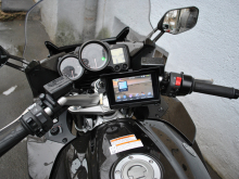 Motorcycle IPX4 wateproof GPS navigation with HD (800x480)  5.0 inch Touch(WinCE 6.0, Bluetooth, Handlebar mount), AVIS DRC050G